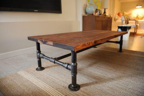 Деревянный стол в стиле лофт своими руками 79